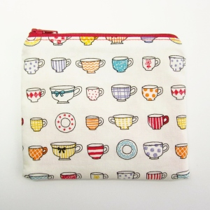 Tea cups coin purse