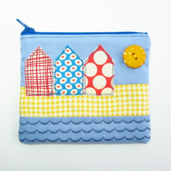 Beach huts coin purse