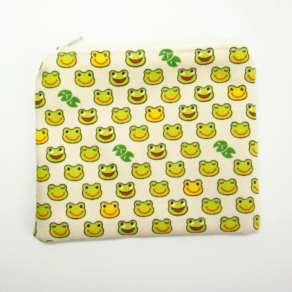 cream frog purse