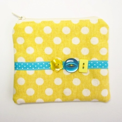 yellow buttons coin purse